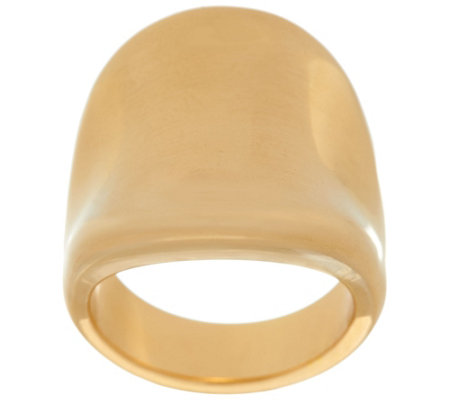 Bold Polished Concave Tapered Ring, 14K