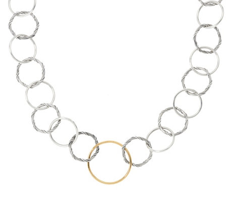 Peter Thomas Roth Sterling & 18K Signature Romance Necklace