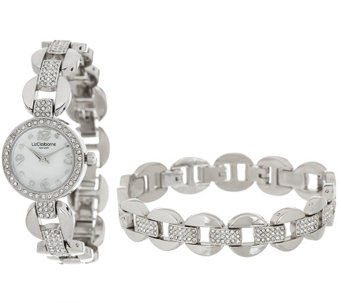 """As Is"" Liz Claiborne New York Watch & Bracelet Set - J329752"