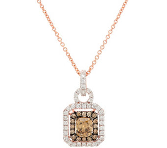 Natural Brown & White Diamond Pendant w/Chain 14K, 1.00 cttw, by Affinity - J331552