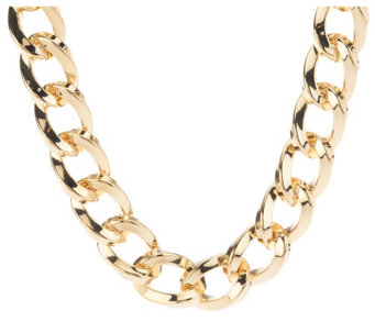 """As Is"" Kenneth Jay Lane's 17"" Twisted Link Necklace - J333452"