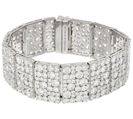 """As Is"" Judith Ripka Sterling 43.35 cttw Diamonique 8-1/4"" Bracelet"