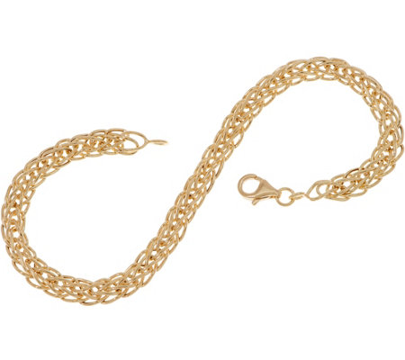 "14K Gold 7-1/4"" Wheat Chain Bracelet, 2.2g"