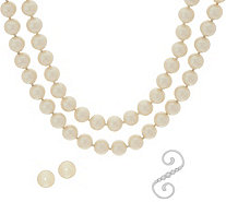 "Carolee Downtown Drama 70"" Simulated Pearl Rope Necklace Set - J351052"