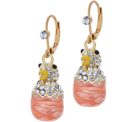 Kirks Folly Chick-A-Dee Leverback Earrings