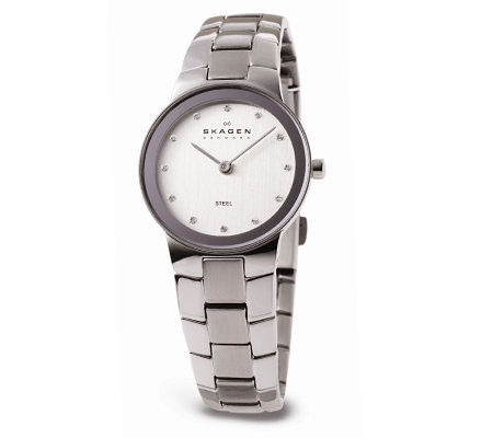Skagen Ladies Stainless Steel Watch with Silvertone Dial