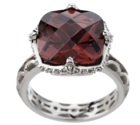 Tacori IV Diamonique Epiphany Bold Simulated Pink Tourmaline Ring