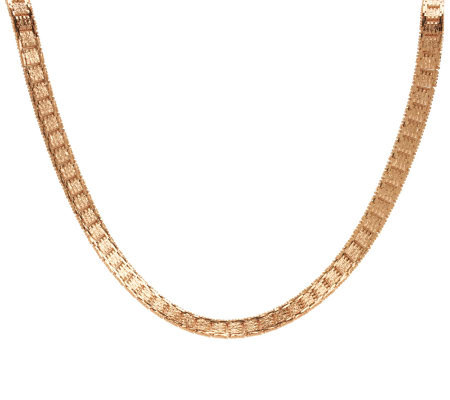 """As Is"" Bronzo Italia 18"" Diamond Cut Riccio Necklace"