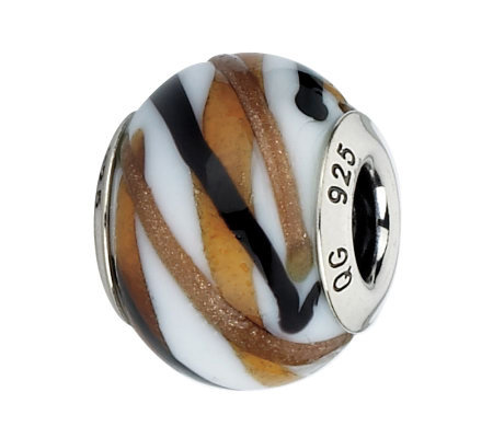 Prerogatives White/Brown/Black Sparkles ItalianMurano Bead
