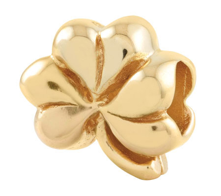 Prerogatives Gold-Plated Sterling Clover Bead