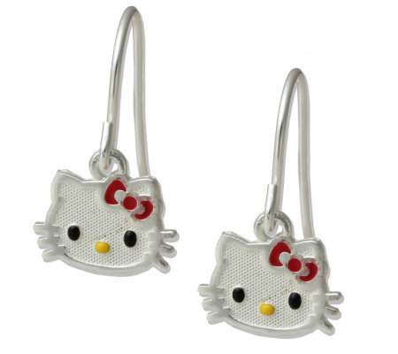 Hello Kitty Sterling Dangle Earrings