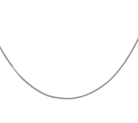 "14"" Solid Box Chain, 14K White Gold"