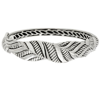 JAI Sterling Sukhothai Twisted Hinged Bangle Bracelet - J318953
