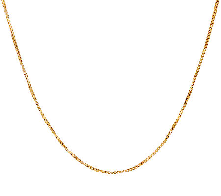 "Vicenza Gold 24"" Box Chain Necklace 14K 2.9g"