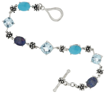 Michael Dawkins Sterling & Gemstone Tennis Bracelet