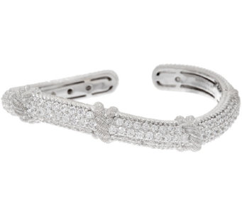 Judith Ripka Sterling & Diamonique Wave Cuff Bracelet - J320453