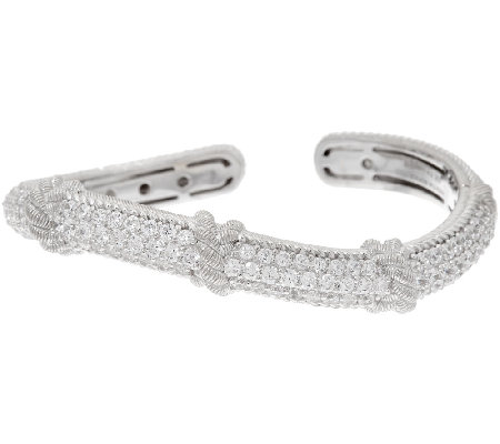 Judith Ripka Sterling & Diamonique Wave Cuff Bracelet