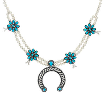 Sleeping Beauty Turquoise Sterling Necklace by American West - J321053