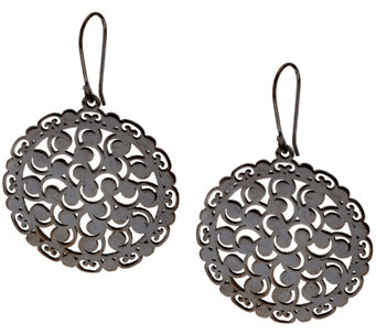 Sterling Silver Lace Design Earrings by Silver Style - J321353