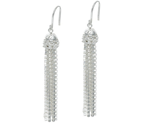 Tassel Drop Earrings by Silver Style