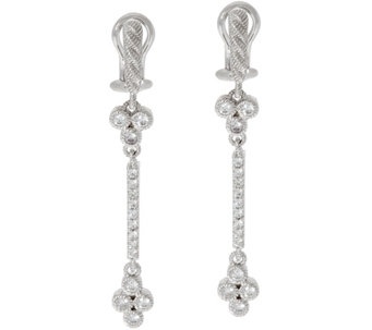Judith Ripka Sterling Silver Diamonique Cherry Line Earrings - J329653