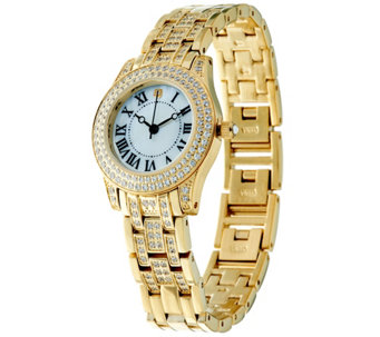 Diamonique Pave' Bracelet Strap Watch - J332253