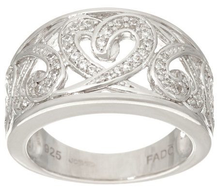 Fado Sterling Silver Celtic Hearts Band Ring