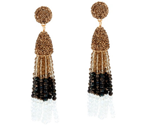 BaubleBar Ombre Beaded Pinata Tassel Drop Earrings