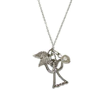"Catherine Galasso Angel Pendant with 18"" Chain"