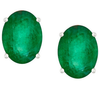 Premier 1.80cttw Oval Emerald Stud Earrings, 14K - J337153