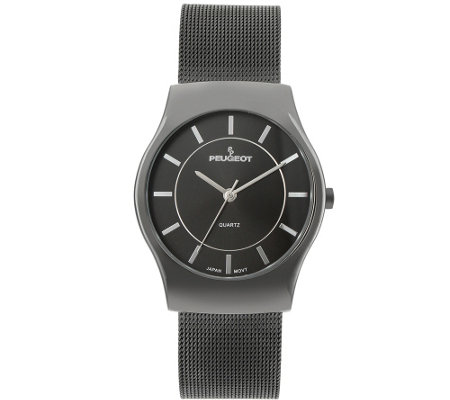Peugeot Men's Mesh Strap Watch