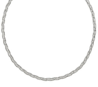 "Sterling Silver Braided 18"" Necklace by Silver Style - J342053"