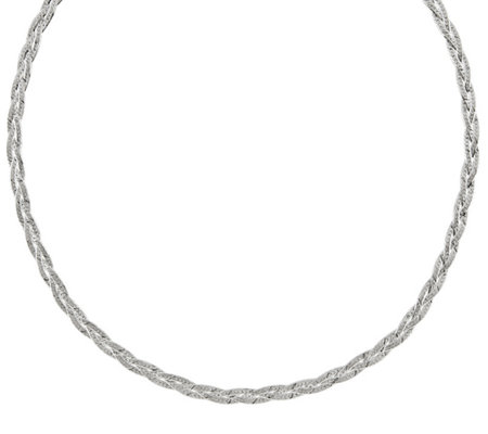 "Sterling Silver Braided 18"" Necklace by Silver Style"