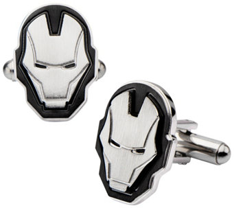 Marvel Stainless Steel Iron Man Face Cuffflinks - J343053