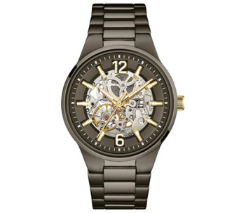 Caravelle New York Men's Automatic Watch, Transparent Dial - J344453