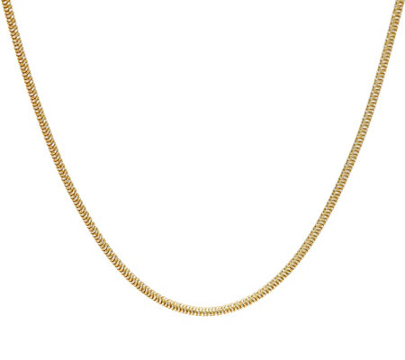 "Italian Silver 20"" Diamond Cut Snake Chain Necklace Sterling, 10.6g"