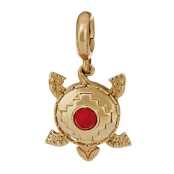 Red Coral Turtle Reversible Charm by American West