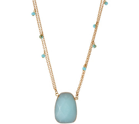 Linea by Louis Dell'Olio Spirit Stone Pendant Necklace
