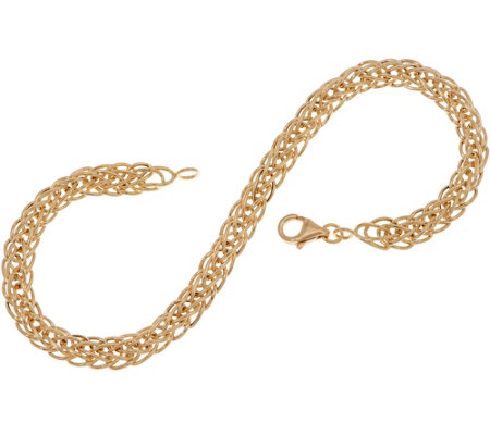 "14K Gold 8"" Wheat Chain Bracelet, 2.4g"