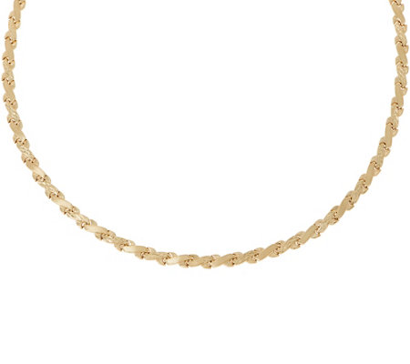 "14K Gold 17"" Criss-Cross Stampato Necklace"