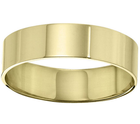 Men's 14K Yellow Gold 6mm Flat Comfort Fit Wedding Band