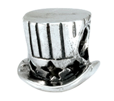 Prerogatives Sterling Uncle Sam Top Hat Bead