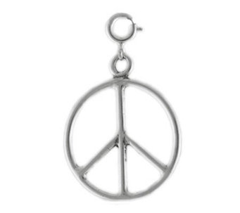 Sterling Peace Sign Charm - J113554