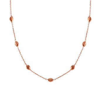"Bronzo Italia 36"" Polished Nugget Station Necklace - J272754"