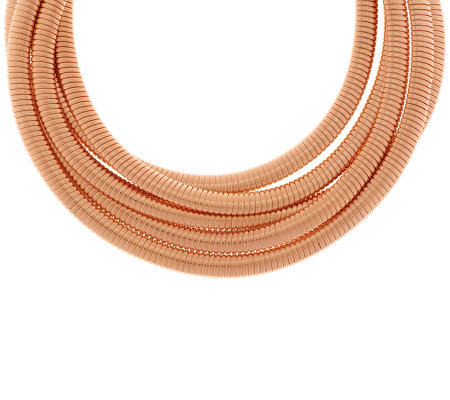 Bronzo Italia Rose 5-strand Tubogas Necklace