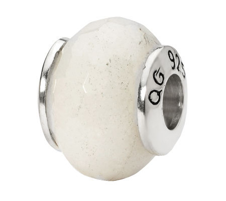 Prerogatives Sterling White Quartz Gemstone Bead