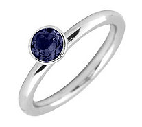 Simply Stacks Sterling 5mm Created Sapphire Solitaire Ring - J298754