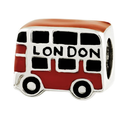 "Prerogatives Sterling ""London"" Double Decker Bus Bead"