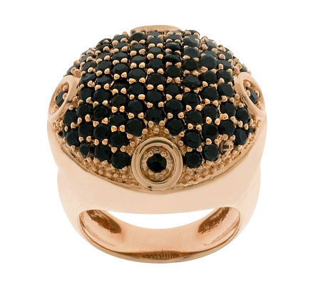 Bronzo Italia Bold Pave-Set Crystal Ring
