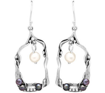 Or Paz Sterling Oxidized Freshwater Pearls DropEarrings - J313454